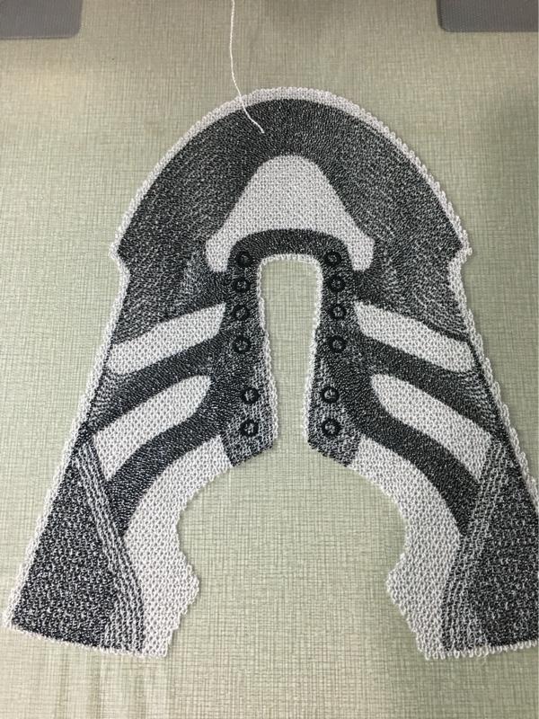 布料 一针一线3d鞋面 三色 涤棉 涤纶 锦纶 3D 飞织 4D 绣花 鞋面